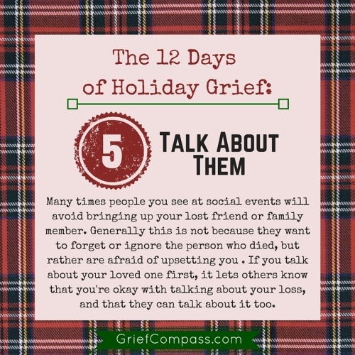 Holiday Grief Tips - Day 5